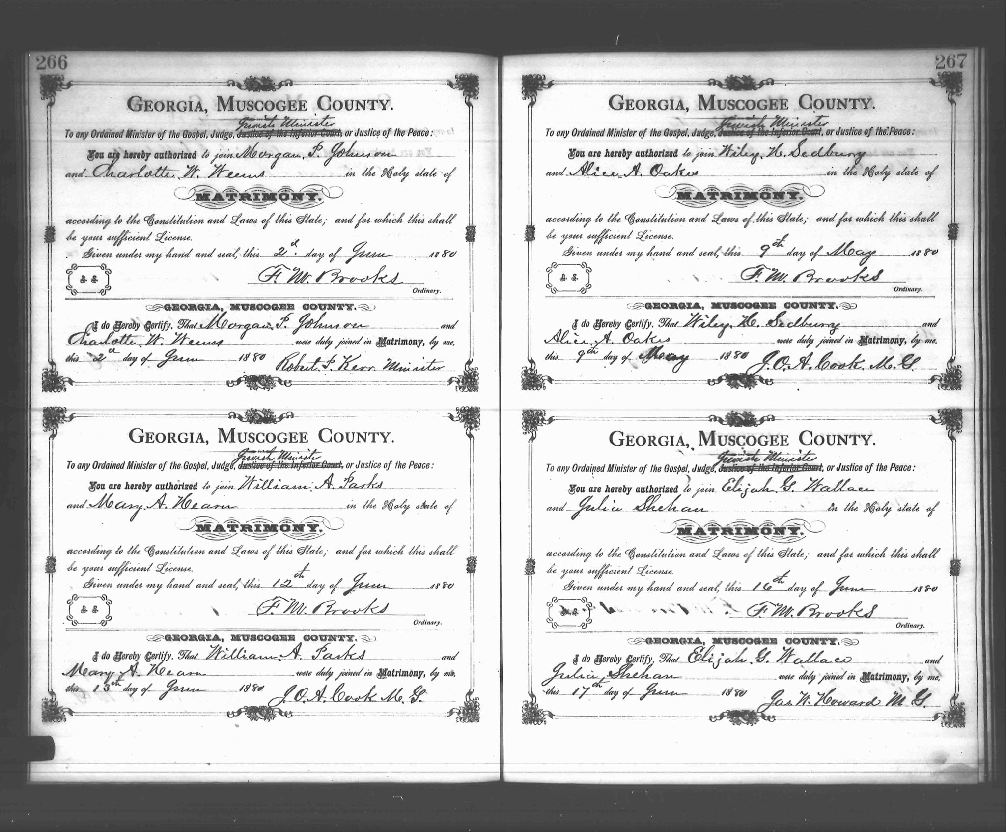The search for mary hearn parks treasures from the tracker were there any parks marriages in muscogee co in the last part of 1880 aiddatafo Images